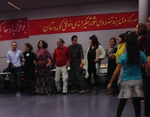 Kurdish line dancers at the Komalah meeting, Rotterdam, NL, 02.14.15