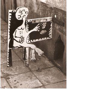 Stad van de Mens, z.t. hout, 2 dimensie, beschilderd, 1969